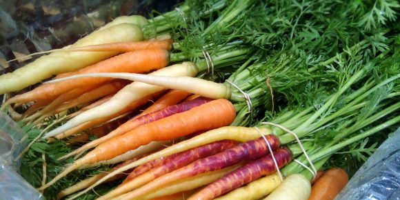 Bunched UK Heritage Carrots